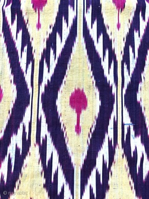 Antique 19th century Uzbek Adras ikat panel. Excellent natural colours. The size is: 40cm X 165cm.