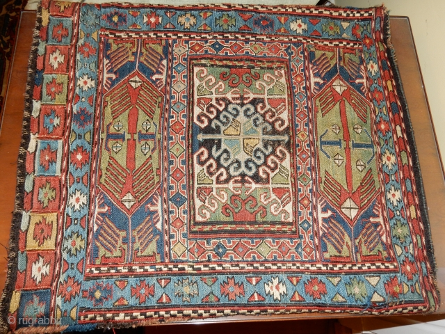 COMPLETE SHAHSAVAN BAG -EXCELLENT  ORIGINAL CONDITION- MAYBE CHEM DYE CENTER MEDALLION ONLY-MAYBE NOT-VERY REASONABLE FOR THIS DESIGN AND CONDITION