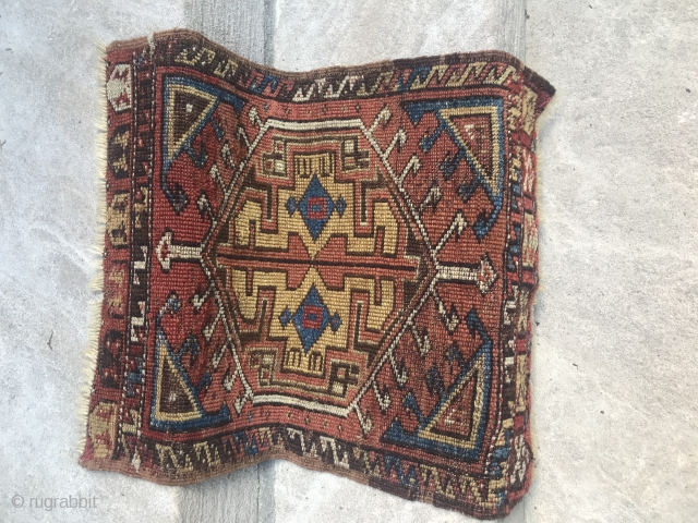 Yastik From Central Anatolian plateau. Immediate Konya area. Very early example. Late 18th century. This piece encompasses the traditional design and palette that has made Konya weavings famous worldwide.   In particular, the  ...