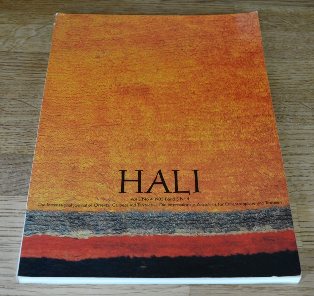 Hali Vol 5 No 4 1983. Some shelf wear, otherwise it's in good condition. Exterior; minor damage to top left corner. Interior; front cover page is come undone from binding. See last  ...
