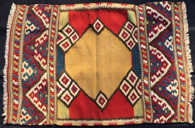 Manastir kilim. Cm 66x99. Early 20th century at least. Ask for more pics & infos....Big Bargain!