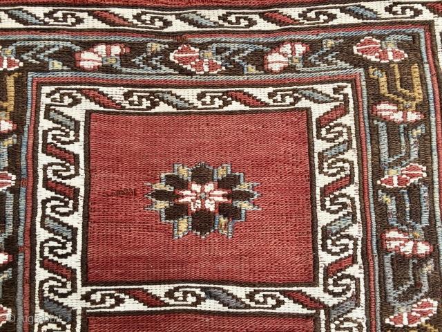 Shahsavan sumack khorjin bag face. Very fine weave. Really beautiful piece if tribal art. More infos on rq.