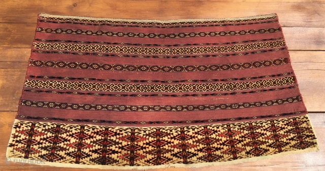 Turkman Tekke Ak Cuval. Cm 70x130. Over a 100 y old. In good condition. Getting rare…..