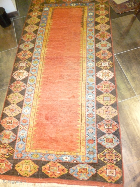 Anatolian Karapinar early XIX th.Century perfect conditions full pile cm.130x275 cm.