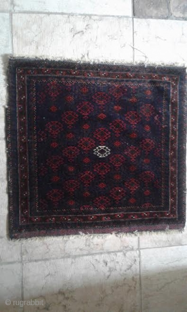 Baluch carpet (Turbat e Idarie? Persia). XIX sec., cm 68 x 77. Perfect conditions