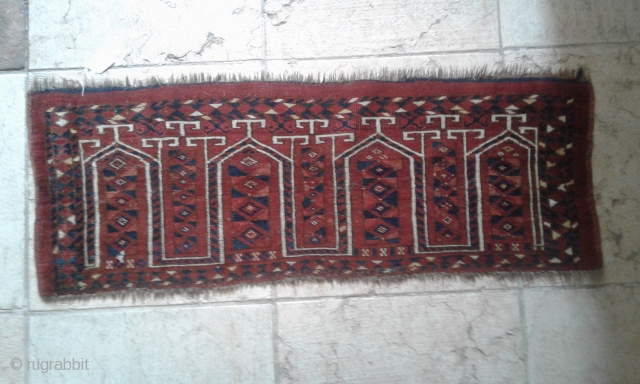 Ersari Torba carpet, Turkmenistan, XIX secolo, cm. 41 x 116. Good conditions