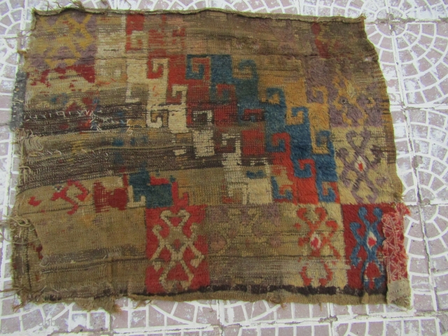 Anatolia Niğde Hasan dağı Rug frakment size=118x92