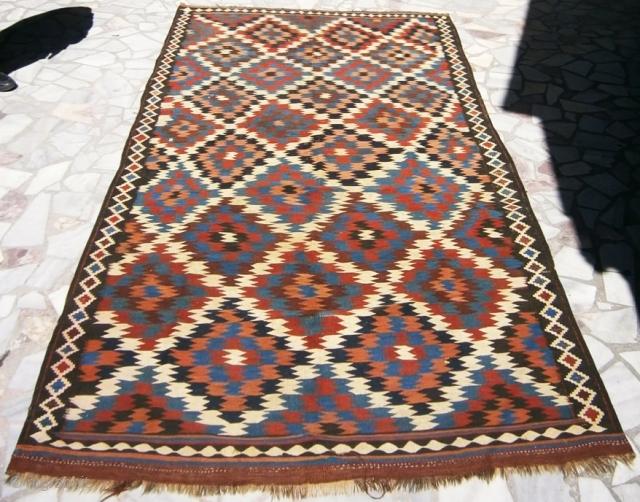 İranian Shahsavan kilim. 165cm x 324cm