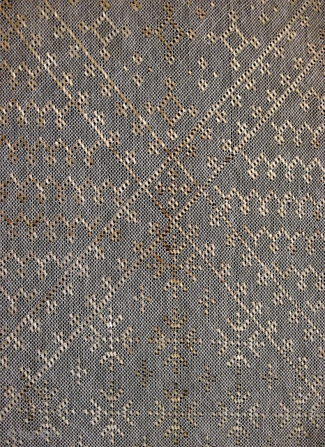 Pair of Asiyut Egyptian shawls, cotton and hammered metal, probably late 19th/early 20th C.