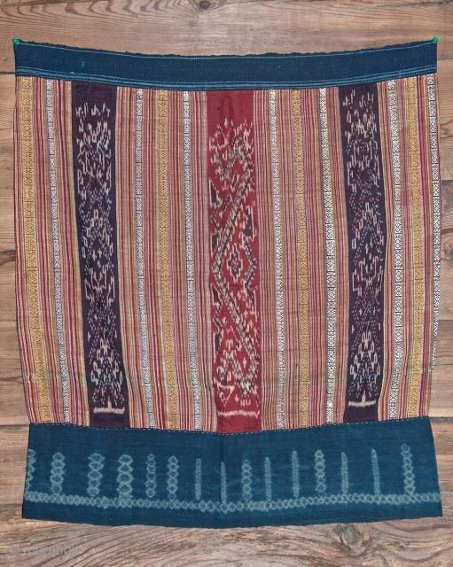 Old silk ikat skirt Laos. 54 X 85 cm. Good condition