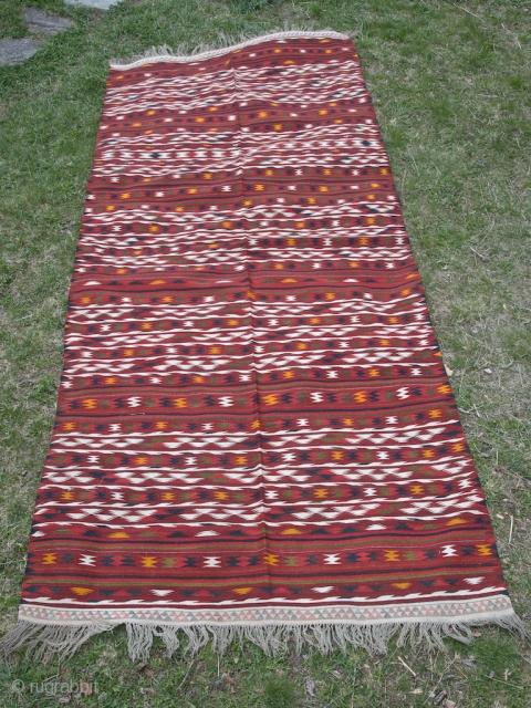 Fine Turkmen kilim - 130 X 311 cm - Excellent condition.
