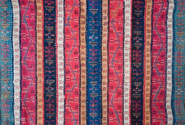 Sivas Gurun Shawl, Late 19th century.  Coarser weave but fantastic colors and in perfect condition.  87 x 180 cm