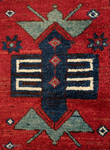 Shavak Kurdish Rug, 4th Quarter of 19th Century. All good natural dyes.  A real tribal rug in beautiful soft wool with good pile.  Uniform weave characteristic of Shavak weaving.   ...