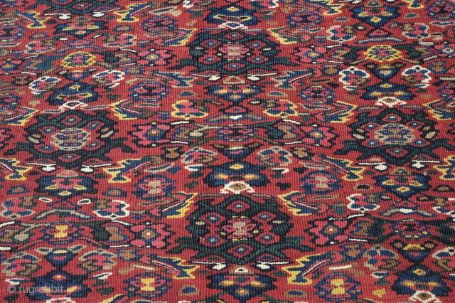 Senneh Kilim, 1900 or so.  Great vivid colors.  130 cm x 198 cm.