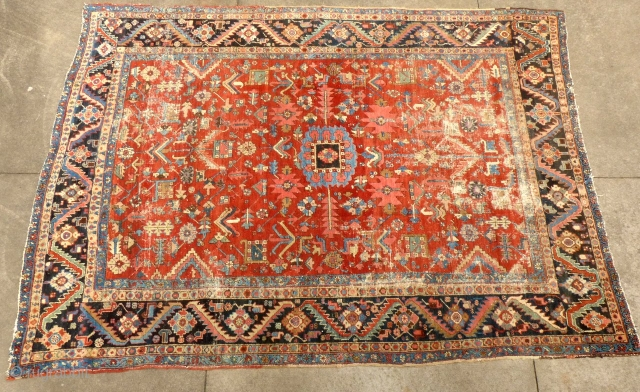 Antique Heriz, c.1880-90, Approximately 8'X 10',