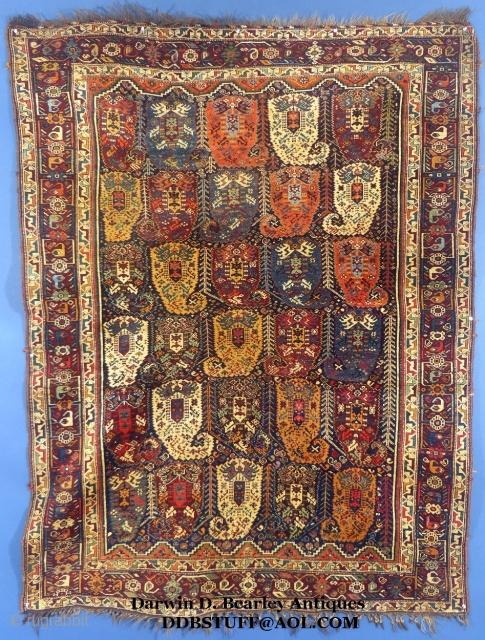 Antique Boteh Khamseh, c. 1875-80, Mint condition, SOLD