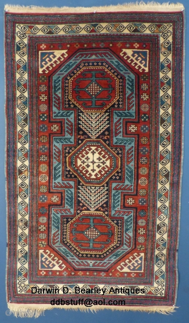 "Caucasian Shirvan(?), 20th Century, Very Excellent Condition, 68"" X 40"".