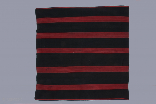 Bolivian woman's banded mantle, alpaca wool, 19th century, 42 x 44 inches(107 x 112cm) Excellent condition ( a few very small reweaves)
