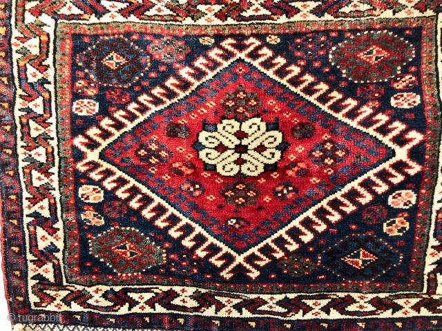 Antique Persian Qashqai Bag Face  Good pile very good overall condition.  Size 17 inches x 21 inches