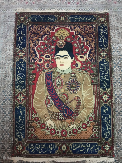 Antiqe theran persian museum piece size:96x70-cm please ask