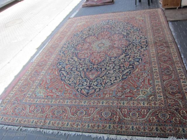 semi-antique Tabriz carpet size: 370x270-cm