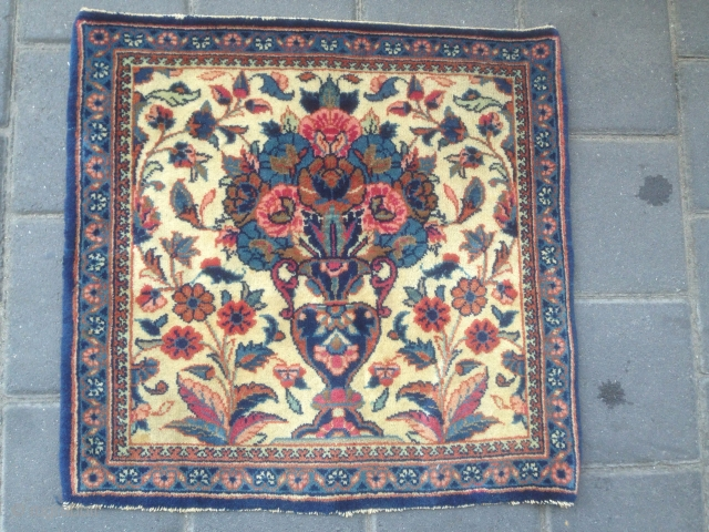 Small Persian kashan size:44x43-cm