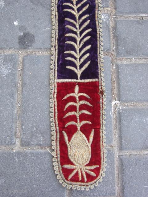 Turkish Ottoman metallic embroidery belt ? size:110x8-cm  please ask