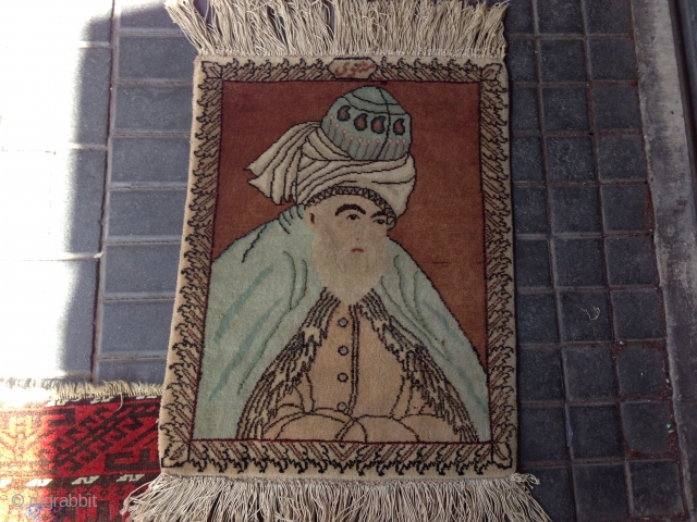 Small Persian Tabriz size:58x45-cm please ask
