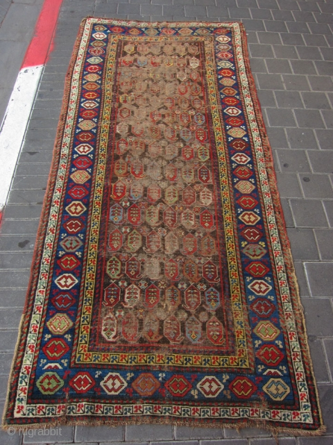 Caucasian Shirwan rug size:230x102-cm 90.5x40.1-inches 
