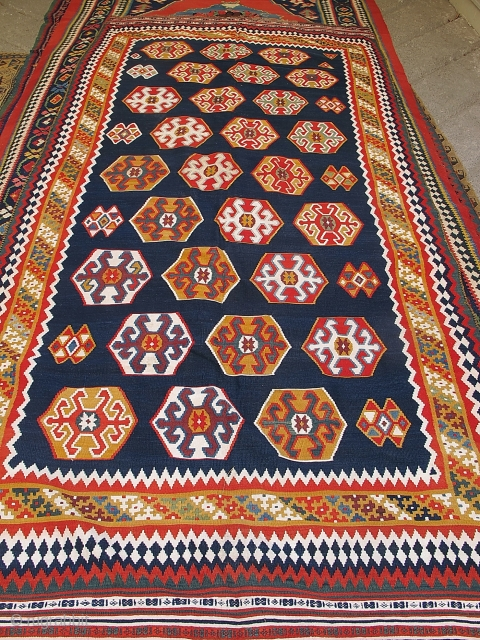 Nice unusual Qashqaee kilim in very good condition.