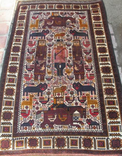Small nice antique Baluch rug  Circa 1920  Size: 170x118cm  P.O.R