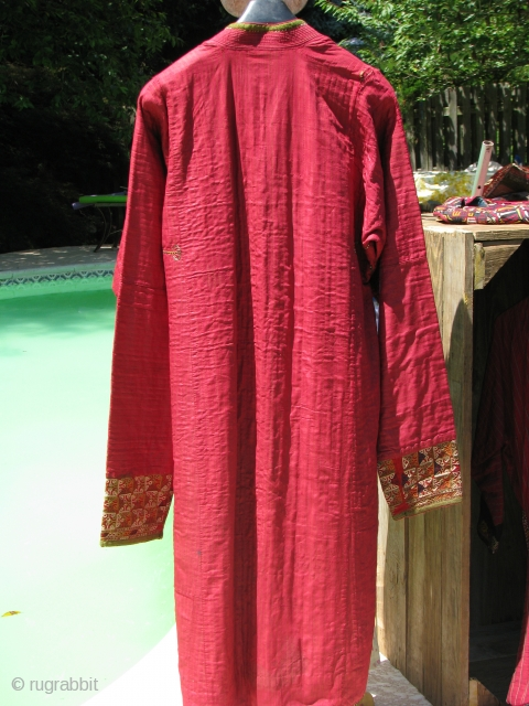 Chodor Turkmen silk chuppan(overcoat)old enough to collect it strong enough to use it