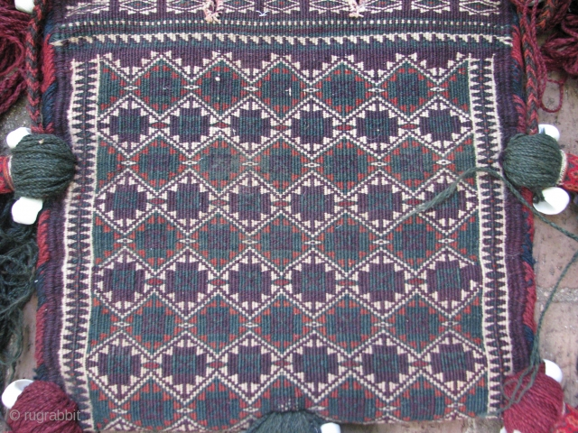 This beluchi bag with all good colors and very fine weave is in a perfect condition