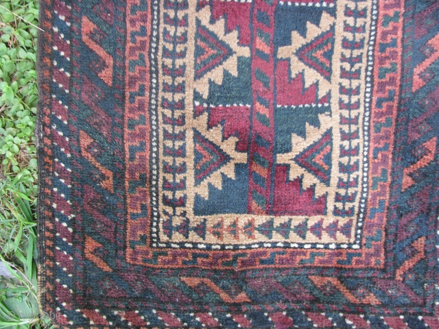 "This beluch balisht with nice greens have very nice soft wool and its in a very good condition 18""x 37"""