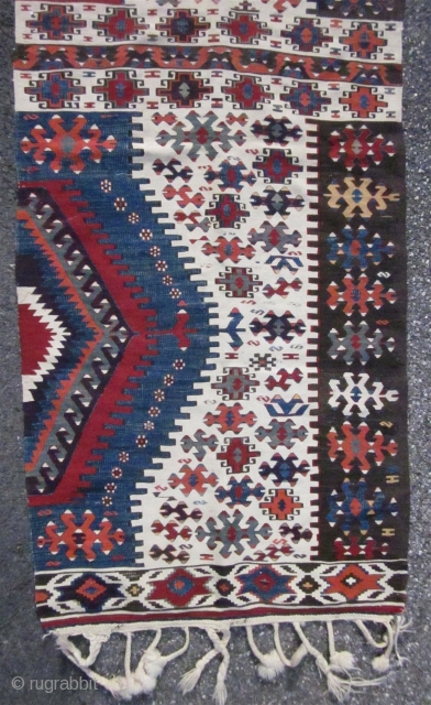 ANTIQUE HALF ANATOLIAN KILIM