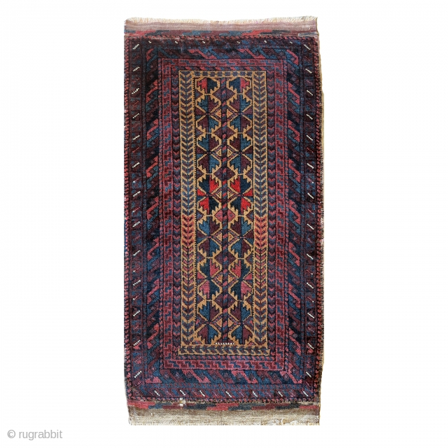 Baluch Balisht, super soft wool. Great condition of the pile: a little hole on the end kilim.