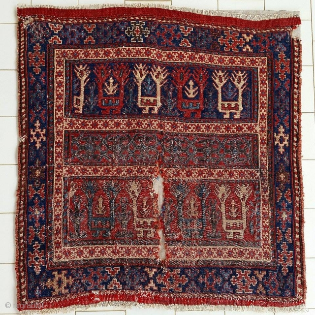 lovely shahsavan fragment mounted on linen. 1860 ca. For other details, please ask. Super collectible item!