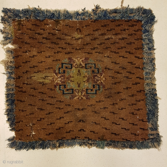 Very rare Tibetan Tiger skin meditation mat. Very old and great piece. Serious buyers are welcome.