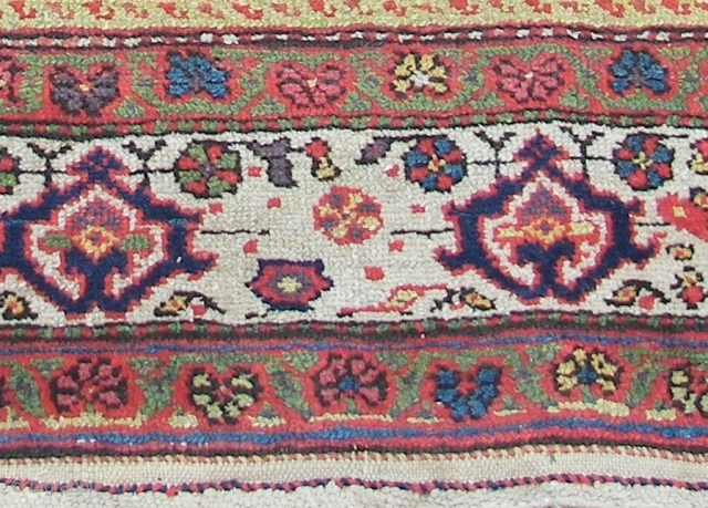 Kurdish runner,wool on cotton  old ,ca.545 cm. x 108 cm. Heavy and massive.     Condition,b good pile, as on pics. Orange and yellow are o.k. So are the  ...