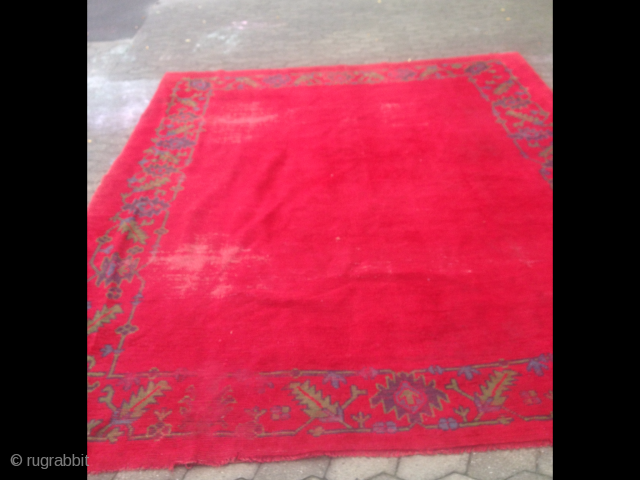 A very nice anatolian Oushak without medalion in the middle in good condition with easy wear in a few places. Approximately 330x 240 storing