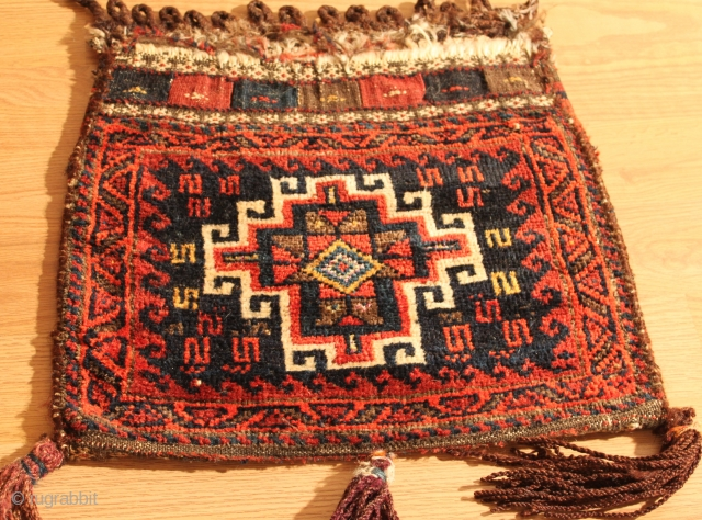 Baluch Bagface. circa 1900 . Natural colors. Good condition.Clean and hand washed . size 0.44cm x 0.45cm