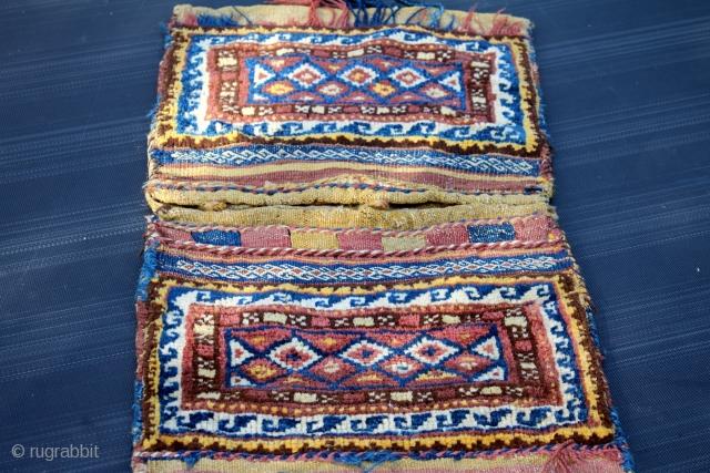 Complete Khorjin 19th Century Natural colors . size 0.76cm x 0.40cm