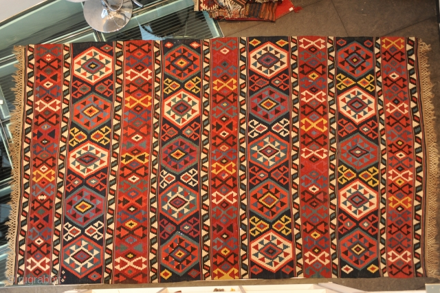 Terrific Kelim, KAUKASUS, around 1900, ca. 328 x 198 cm