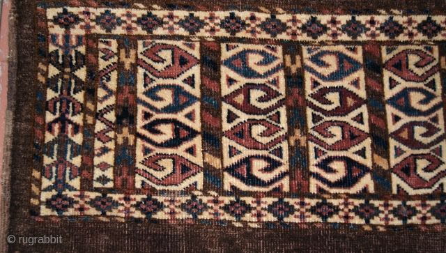 circa 1870 yomud mafrash good condition nice design.