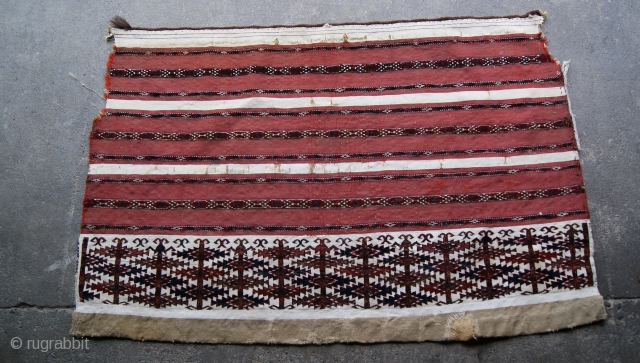 This Is 19th Century Tekke Chuval The White are cotton.