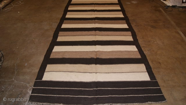 Hazara Kilim from Centural Afghanistan 1940 All Natural Dye Size 156x396.