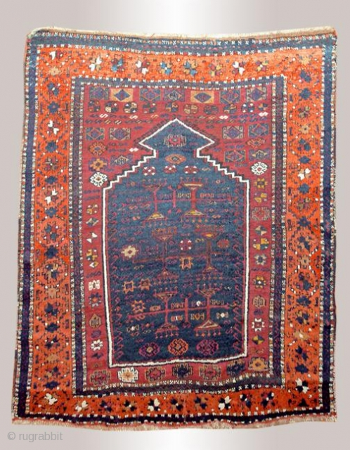 Stock #A147 | Yoruk prayer rug | Circa: 1880s | Size: 3.10 x 4.6