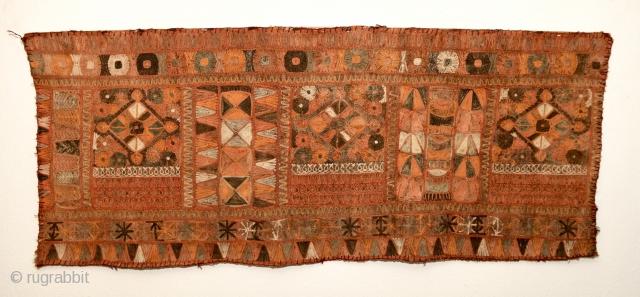 Marsh Arab/ Arab al- Ahwar/ Ma'dan kilim fragment from Southern Iraq. Measures 170x70cm.