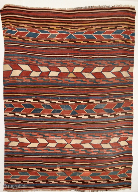 Late 19th century South West Anatolian kilim. Very good condition and excellent colors. 207cm x 150cm.