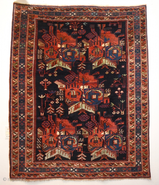 Early 1900's Afshar. 194cm x 151cm. Perfect condition and wonderful natural colors.